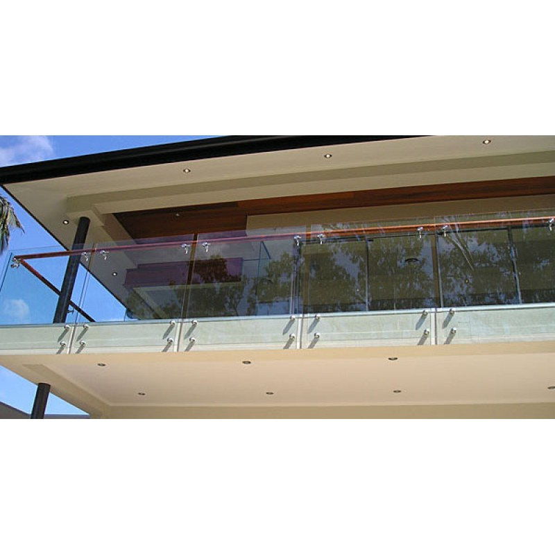 1280mm Height Balustrade - Tempered Glass