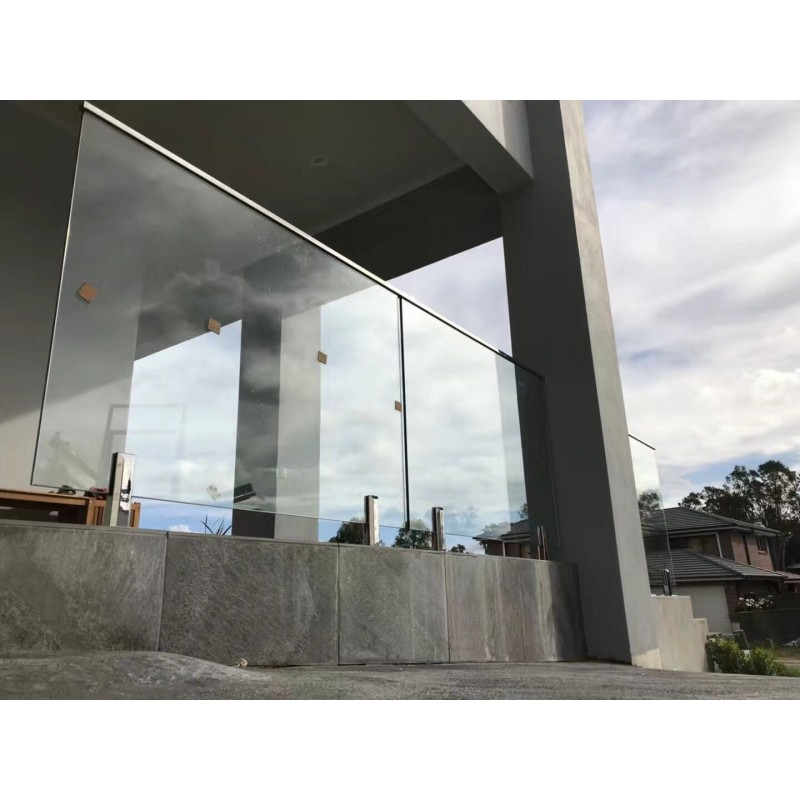 970mm Height Balustrade - Tempered Glass