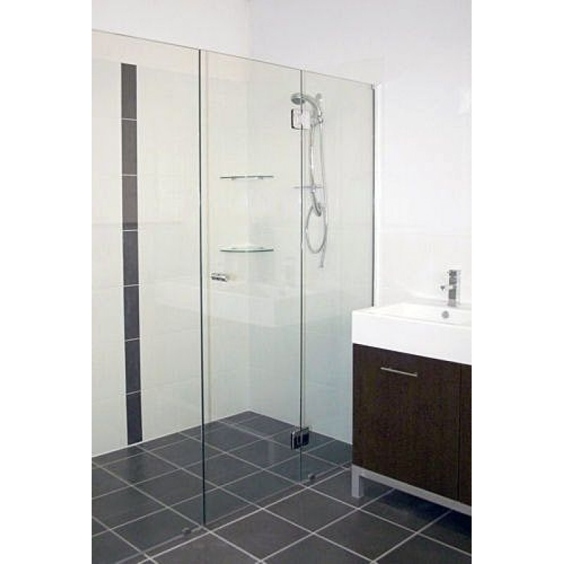 Frameless Shower Screen - Wall To Wall