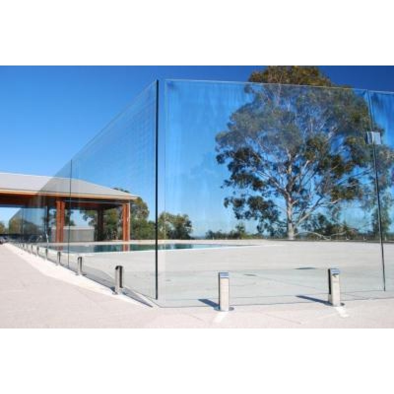 1200mm Height Pool Fence Clear Toughened Glass