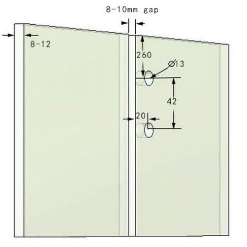 Inline Latch Lock - Glass to Glass